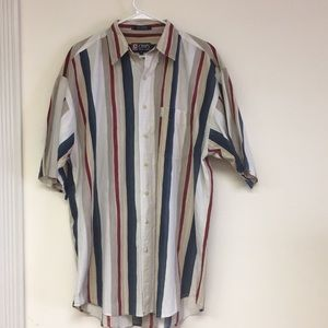 Chaps Button Down Shirt Size LT